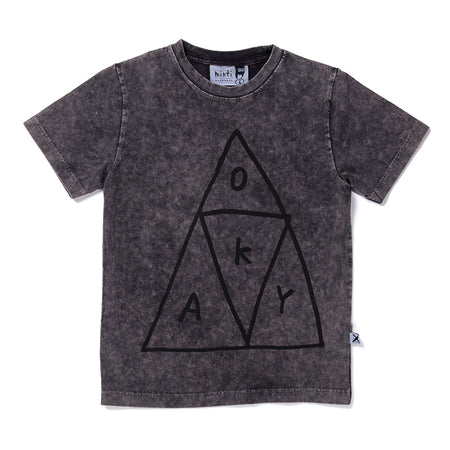 Minti Okay Tee - Black Wash