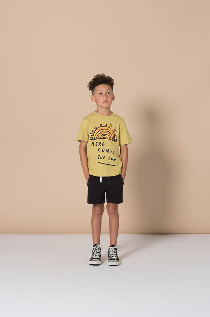 Minti Here Comes The Sun Tee - Yellow Marle