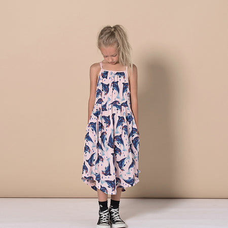 Minti Dolphin Besties Woven Dress - Ballet