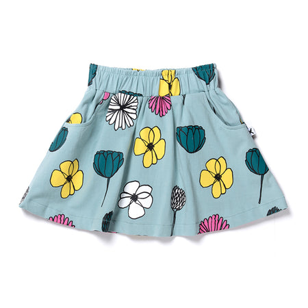 Minti Daisies And Other Things Skirt - Muted Green