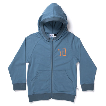 Minti Hello Sailor Zip Up - Steel Blue