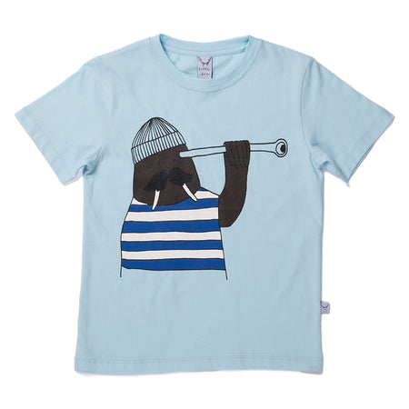 Littlehorn Lookout Walrus Tee - Light Blue