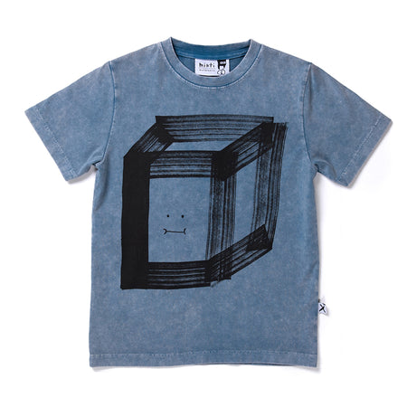 Minti Happy Cube Tee - Blue Wash