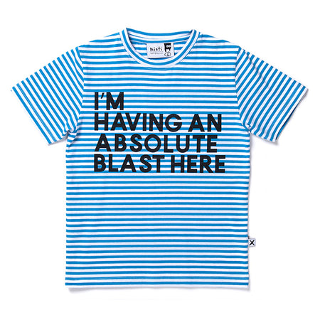 Minti Having A Blast Tee - Aqua Stripe