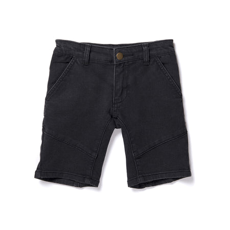 Minti Dusk Denim Short - Soft Black