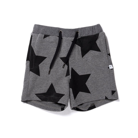 Littlehorn Stars Sweat Short - Charcoal