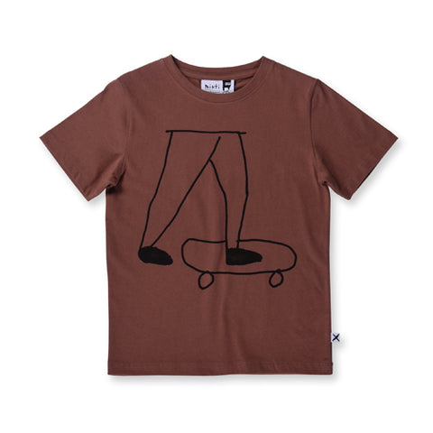 Minti Natural Skater Tee - Chocolate
