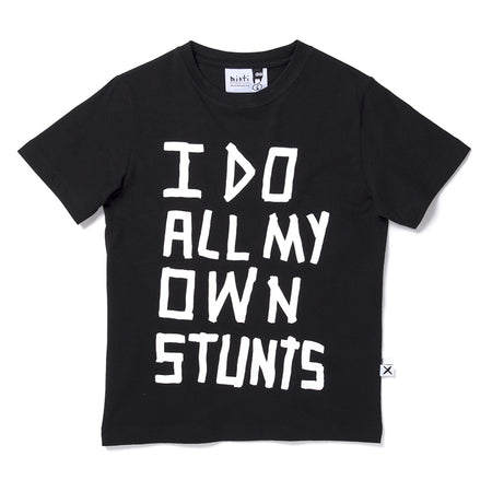 Minti Stunts Tee - Black