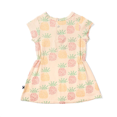 Minti Pineapples Dress - Cream