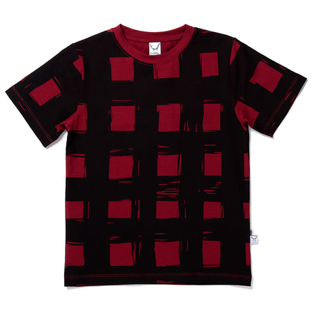 Littlehorn Gingham Tee - Dark Red