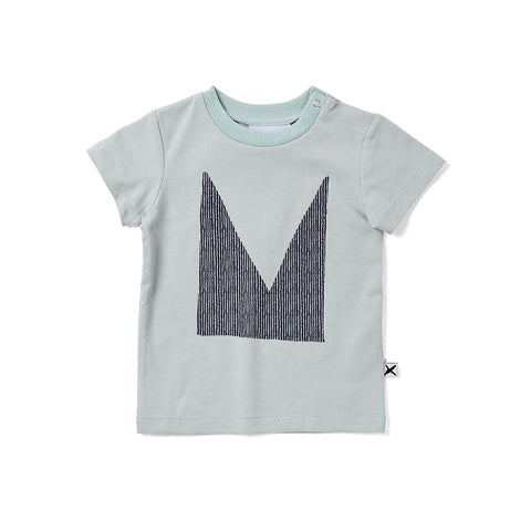 Minti Cut Up M Tee - Muted Green