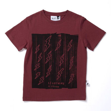 Minti Lightning And Stuff Tee - Burnt Red