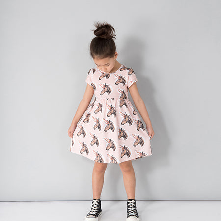 Minti Unicorns Empire Dress - Ballet