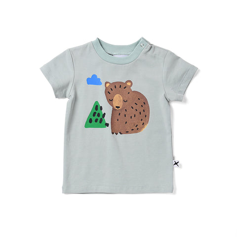 Minti Bear Cub Tee - Muted Green