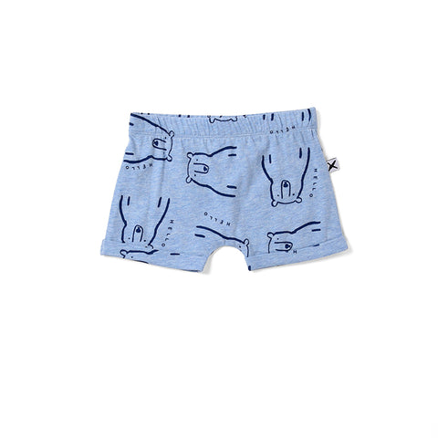 Minti Bear Party Short - Blue Marle