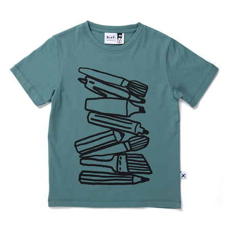 Minti Pen Stack Tee - Forest
