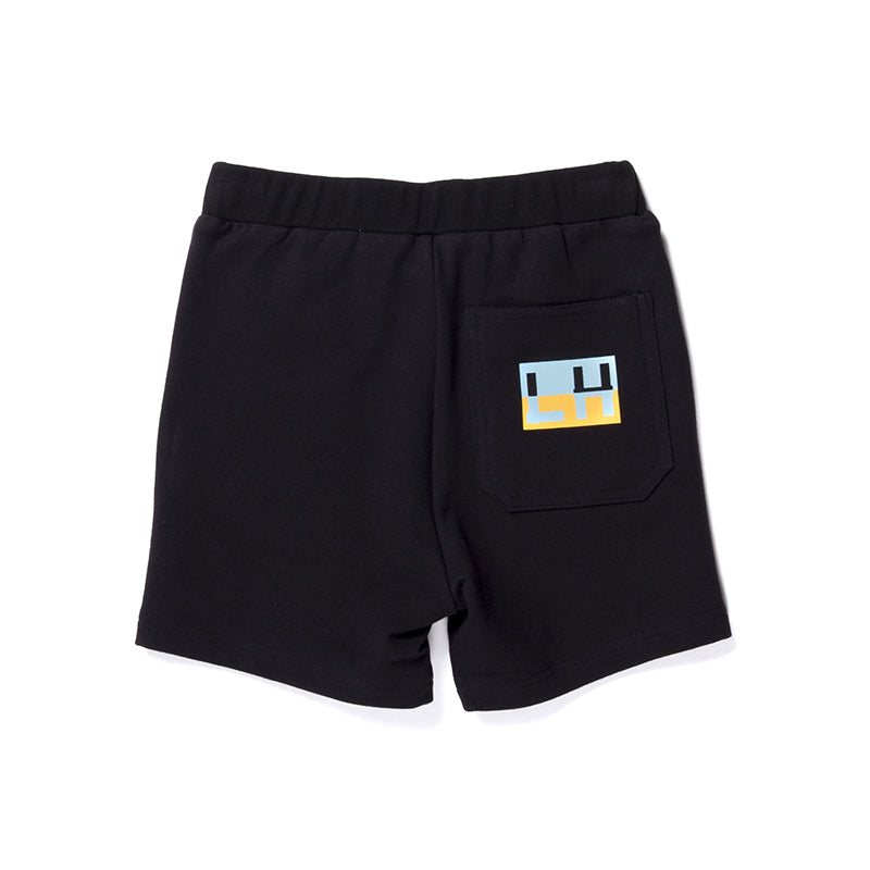 Littlehorn Branded Sweat Short - Black