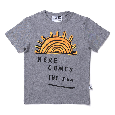 Minti Here Comes The Sun Tee - Grey Motley
