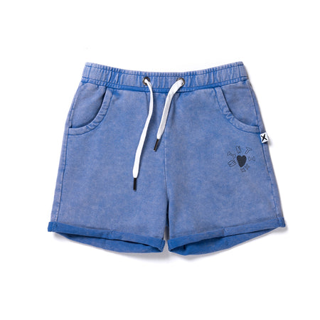 Minti Play Short - Electric Blue Wash