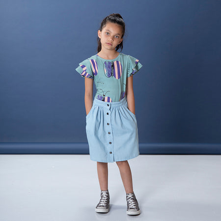 Littlehorn Lovely Butterfly Tee - Sage