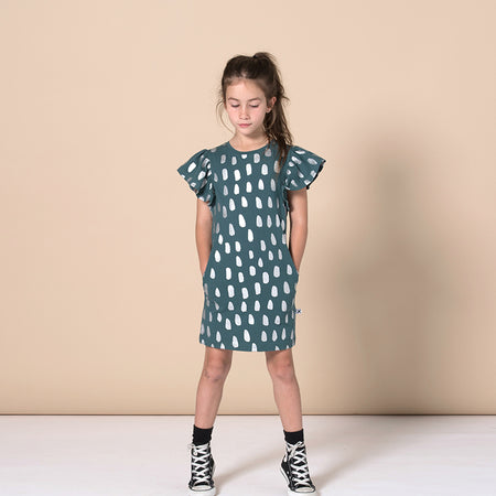 Minti Silver Droplet Dress - Forest