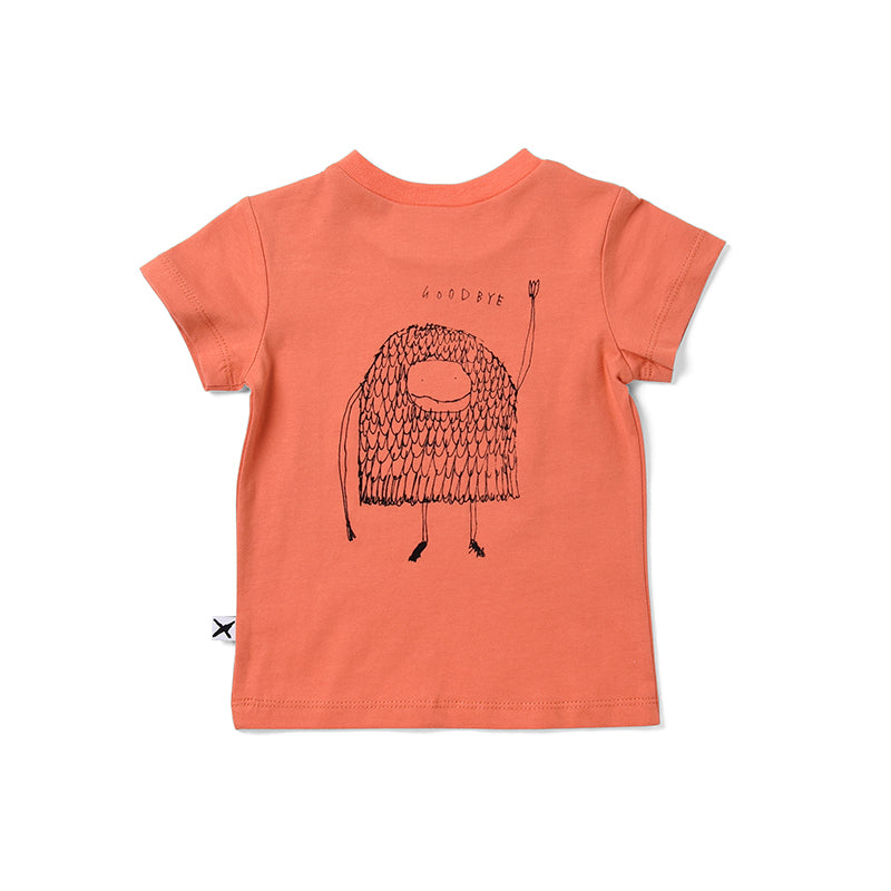Minti Hello Goodbye Monster Tee - Orange