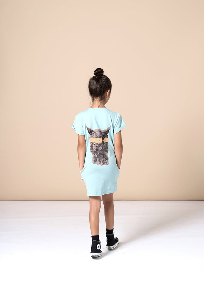 Minti Scooba Llama Dress - Muted Green