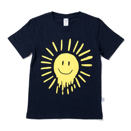 Littlehorn Dripping Sun Tee - Dark Blue