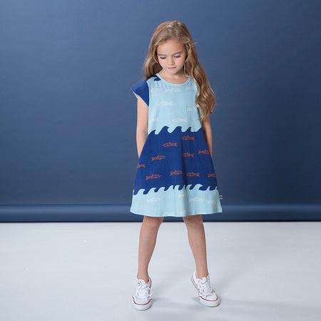 Littlehorn Aquarium Dress - Blues