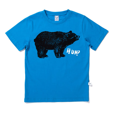 Littlehorn Bewildered Bear Tee - Electric Blue