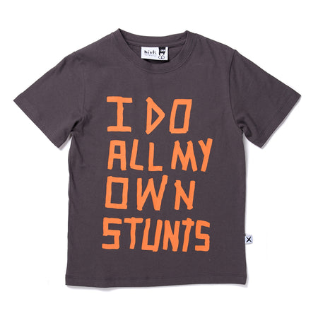 Minti Stunts Tee - Dark Grey