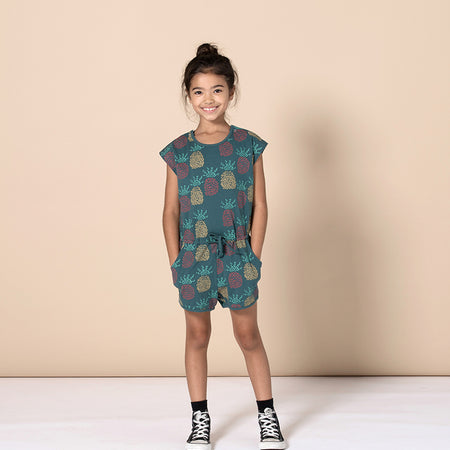 Minti Pineapples Playsuit - Forest