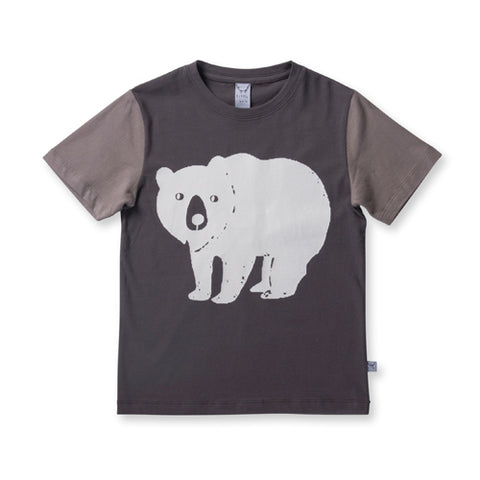 Littlehorn Bear Stamp Tee - Greys