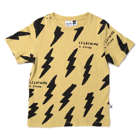 Minti Lightning And Stuff Tee - Yellow Marle