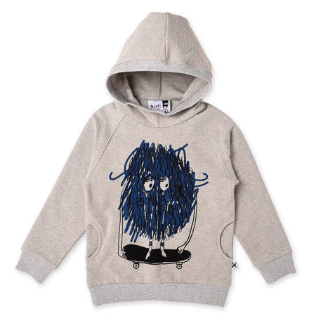 Minti Messy Skater Furry Pocket Hood