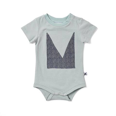Minti Cut Up M Onesie - Muted Green