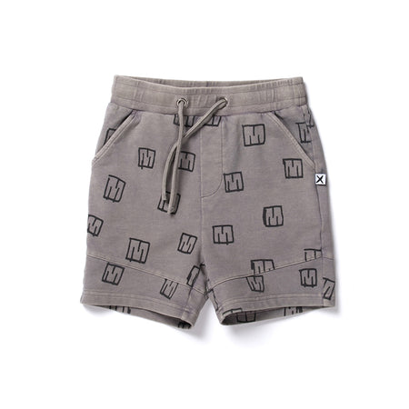 Minti Sketched Logo Short - Grey Wash