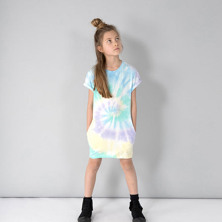Minti Daze Dress - Green/Purple/Yellow Tie Dye