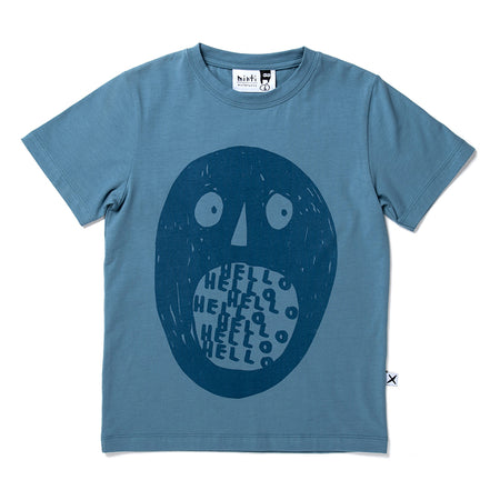 Minti Holler Tee - Steel Blue