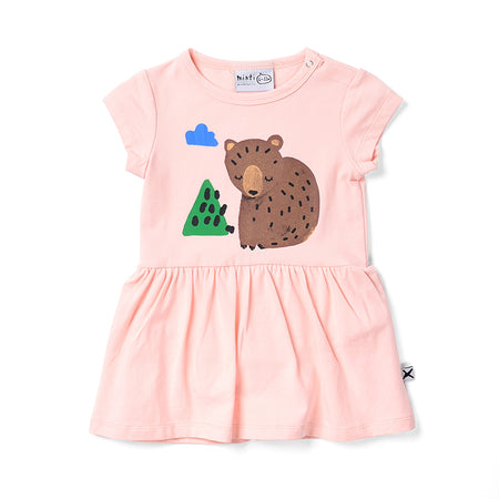 Minti Bear Cub Onesie Dress - Ballet