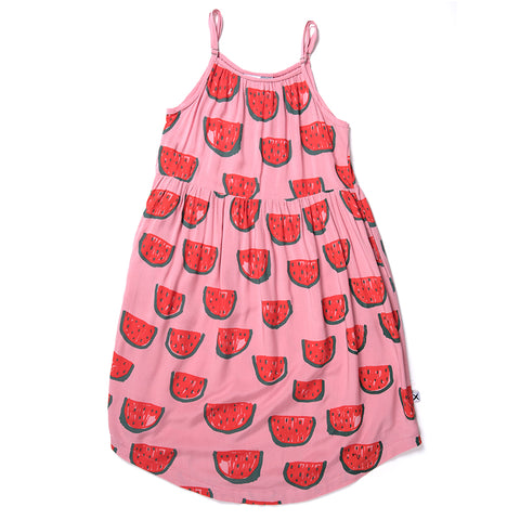 Minti Watermelons Woven Dress - Rose