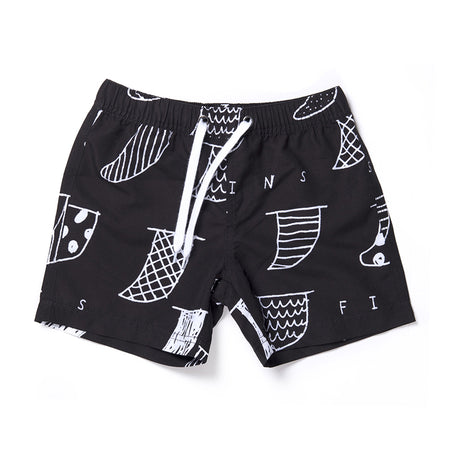 Minti Fins Boardies - Black