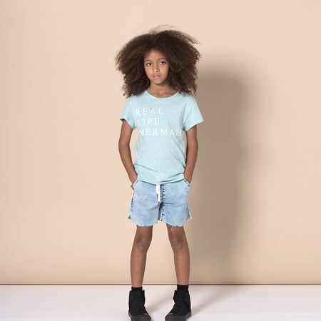 Minti Real Life Mermaid Tee - Green Marle