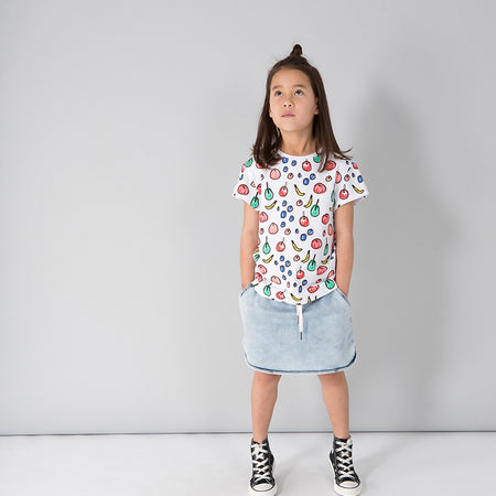 Minti Fruity Tee - White