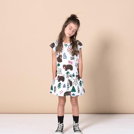 Minti Wilderness Domed Dress - White Marle