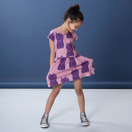 Littlehorn Lucky Cat Dress - Mauve