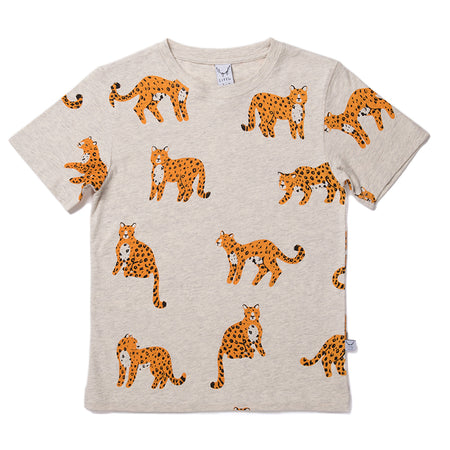 Littlehorn Cheetah Tee - Light Grey