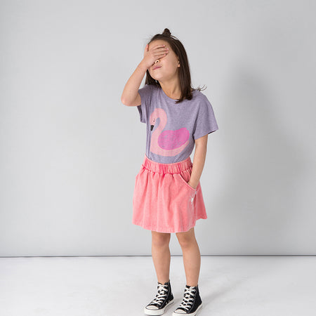 Minti Sleepy Swan Tee - Purple Marle