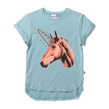 Minti Real Life Unicorn Tee - Muted Green