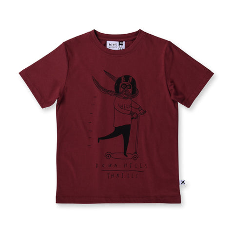 Minti Scoot Tee - Burnt Red
